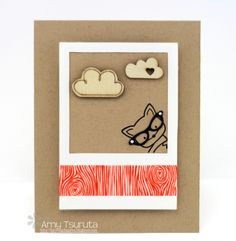 Peek-a-Boo! Design this card for a friend or loved one by using Top Dog Dies Photo Mats Die.
