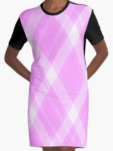 Pink Flannel Graphic T-Shirt Dress