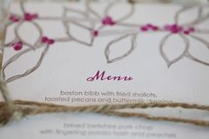 mStarr event styling + design // design series at @Peterson Party Center // letterpress menu card from smudge ink // photo by hello love photography