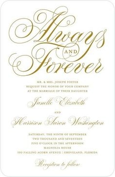 Everlasting Script - Thermography Wedding Invitations - Sarah Hawkins Designs - White : Front