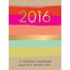 2016 Paper Source Paint Stripe Booklet Planner