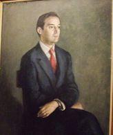 Retrato de Diego Romero Marín, presidente de la Diputación de Córdoba entre el 26-04-1979 y el 11-06-1983. Por Pedro Bueno, 1983