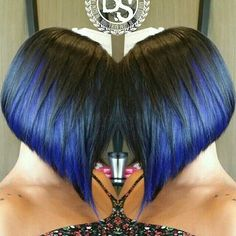 Love the cut, I personally won't be able to pull off the color, but it looks great too