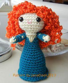 Brave Princess Merida Doll Crochet Pattern by JanaGeek on Etsy, $2.99
