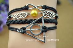 Infinity charm bracelet & Harry Potter and the by TheGiftWorld, $4.50 Personalized fashion handmade leather bracelet,the best gift of friendship.