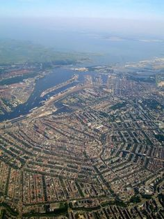 Amsterdam - From the Sky - beautiful canal rings