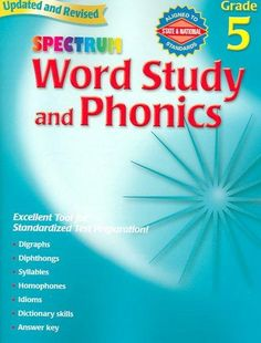 Word Study and Phonics: Grade 5