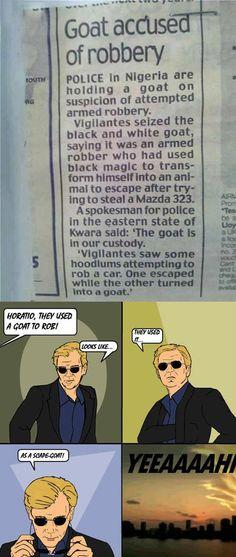 They goat him in custody…