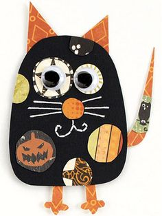 Halloween Cat Paper-Piecing Pattern