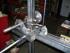 Another homemade bandsaw mill - Woodworking Talk - Woodworkers Forum Homemade Chainsaw Mill, Homemade Bandsaw Mill, Chainsaw Mill Plans, Portable Saw Mill, Log Saw, Wood Mill, Quonset Hut, Metal Fabrication, Blacksmithing