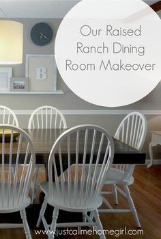 A Raised Ranch Dining Room Before and After