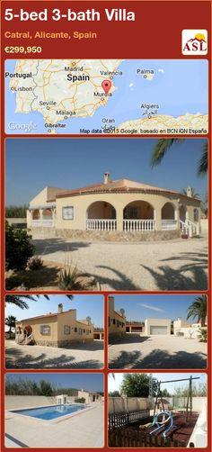 5-bed 3-bath Villa in Catral, Alicante, Spain ►€299,950 #PropertyForSaleInSpain