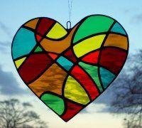 swirly glass heart