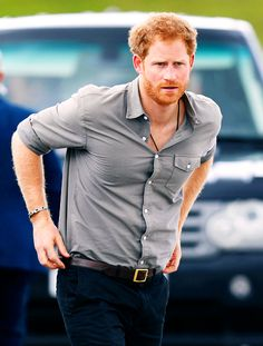 Prince Harry visits The Blair Project at Three Sisters Raceway on July 5, 2016 in Wigan, England.