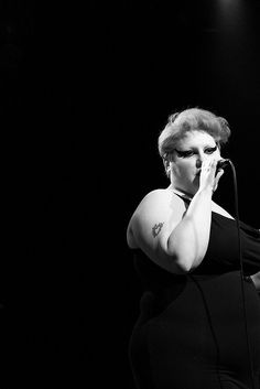 Beth Ditto performing with Gossip at the Commodore Ballroom, Vancouver, B.C. ☚