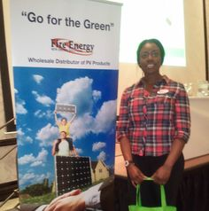 Our volunteer Gina via www.powerofgreenla.com representing at a Solar Industry Conference