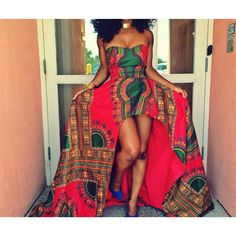 African/ethnic/dashiki women strapless gown,dashiki wedding/prom gown ❤ liked on… African Prom Dresses, Strapless Prom Dresses, African Dresses For Women, African Attire, African Wear, African Women, African Style, African Beauty, African Outfits