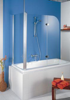 HSK Duschkabinenbau KG | Badewannenfaltwand - Exklusiv, 2-teilig mit Seitenwand