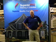 WSB's Dave Baker at the SuperiorPro booth.  Yes, he reallly does endorse us!