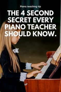 """What is the piano teaching second rule"""" and how can it help your piano students? Find out in this post. If you want to build confident and independent pianists, this piano teaching tip is a great start. Piano Lessons For Kids, Piano Lessons For Beginners, Music Lessons, The Piano, Piano Songs, Piano Music, Piano Recital, Playing Piano, Piano Teaching"""