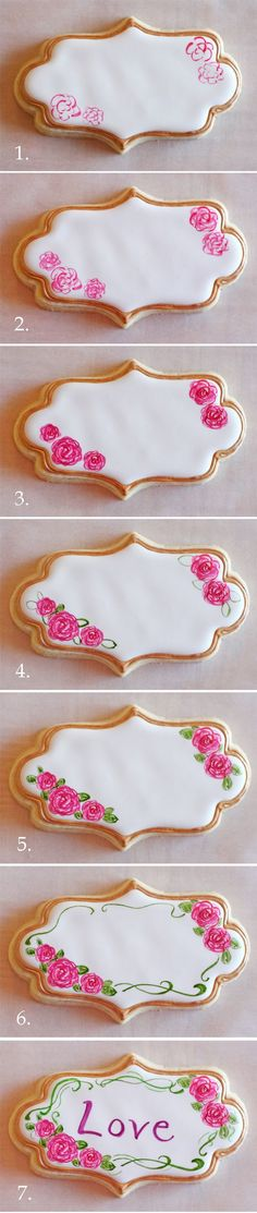 Painting on Cookies (step by step) - from Glorious Treats