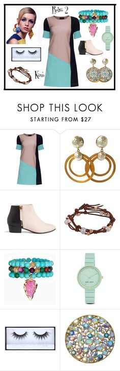 """Retro 2"" by kimmie-plus2 on Polyvore featuring Lattori, DOMINIQUE AURIENTIS, Nine to Five, Chan Luu, Panacea, Nine West and Huda Beauty"