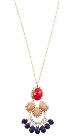 CZ Fan Pendant Necklace | $19 | jewelboxonline.com