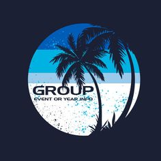 It's time to kick back and enjoy creation together with your youth camp or retreat. Let the sun and sand soothe you as you dig in to God's Word. Cool thing is, you can customize this design to your exact specifications. Different colors? Different materials? Slogan, verse, or church name? Go for it. We gotcha.   youth group, retreats, beach, palm tree, sunset, sand, sea, ocean, baptism, surf