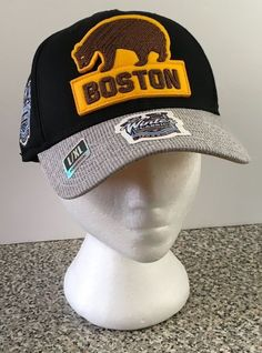 NHL 2016 Winter Classic Boston Bruins Reebok Coaches Logo Flex Cap Hat L/XL New #Reebok #BostonBruins