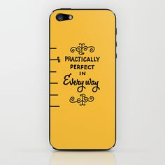 practically perfect in everyway iPhone & iPod Skin by studiomarshallarts - $15.00