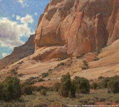 """Clyde Aspevig, """"Shadowland,"""" 2014, oil on canvas, 36 x 40 in."""