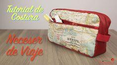 Tutorial de Costura - Como hacer un Neceser de Viaje Impermeable - Espec...