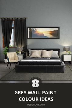 Grey wall paint colours: it's time we start veering more towards grey as our go-to paint colour for interiors. Check out these 8 grey paint color options for your homes. // grey wall painting // grey wall painting ideas // grey wall paint colors // grey wall paint color ideas // grey paiting ideas for modern homes #grey #wall #painting #color #ideas #greywallpaintings #greywallpaintcolorideas Pale Grey Paint, Warm Gray Paint, Grey Wall Color, Grey Paint Colors, Paint Colors For Home, Bedroom Wall Paint Colors, Wall Colors, House Colors, Wall Paint Colour Combination