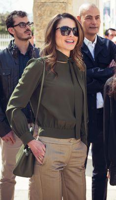 Queen Rania of Jordan visited the Amman Design Week venue in downtown Amman | March 30, 2016.