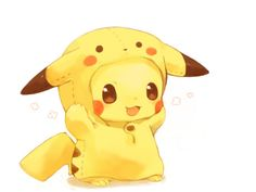 Pikachu in a pikachu costume? Haha, thats funny :3