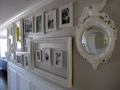 i think i need to be brave and do all white frames