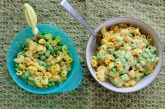 Macaroni & Peas, Kid-Friendly & Dairy-Free (Can be Gluten free too! Free Kids Meals, Toddler Meals, Toddler Food, Dairy Free Diet, Dairy Free Recipes, Gluten Free, Pea Recipes, Baby Food Recipes, Savoury Recipes