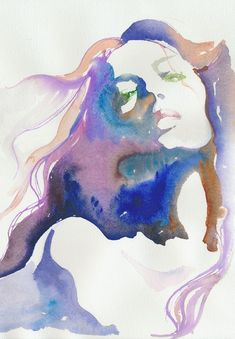 I love a water color done well. #watercolor #art #portrait