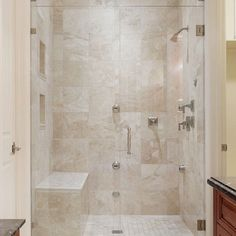 bench within shower
