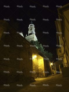 Town in Spain at night stock photo 58781890 - iStock - iStock ES