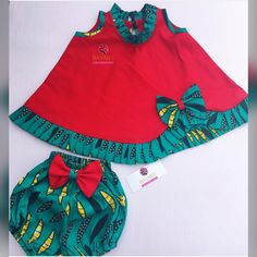 Bloomer sets for baby girls made wi… By Diyanu - African Plus Size Clothing at D'IYANU African Attire, African Wear, African Fashion, Kids Fashion, Kids Outfits Girls, Girls Wear, Girl Outfits, Baby African Clothes, Cute Baby Clothes