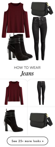 """Untitled #3529"" by evalentina92 on Polyvore featuring WithChic, H&M and Steve Madden"