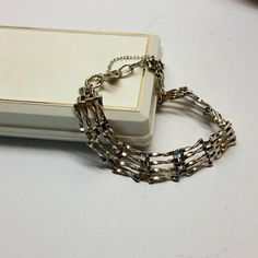 Armband Gliederarmband Silber 925 England Vintage SA197