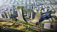 Gallery of SOM Envisions a Vibrant, Diverse, and Ecological Urban Community in Guangming District, Shenzhen - 1 Shenzhen, Ecology, Pearl River Delta, Vibrant, Community, Master Plan, Urban Design, Bay Area, Gallery