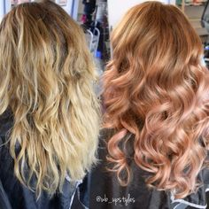 Rose gold/ dusty pink ombre #wb_upstyles