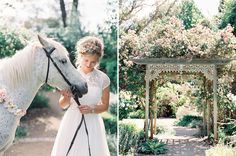 A Secret Garden Wedding. Ahhh!!! This is perfect with the horse!!!