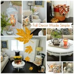 Fall decor made simple - easy affordable decorating tips (Fox Hollow Cottage)