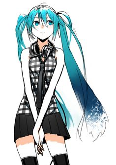Hatsune Miku - Vocaloid. She is a Japanese VOCALIOD developed and distributed by Crypton Future Media Inc and was initially released in August 2007 for the VOCALIOD2 engine. There has since been numerous installments such as additional voice for VOCALIOD3. She is the seventh Vocaloid. She is considered the most popular and well known Vocaloid.