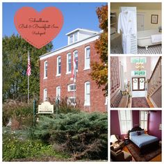 Listed on the National Register of Historic Places, this three-story bed and breakfast was originally a four-room schoolhouse, built in 1914, for grades one through twelve for the river village of historic Rocheport. #Missouri