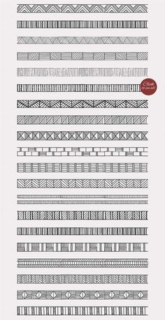 20 geometric pattern brushes from Solana on Creative Market # designinteriores . - 20 geometric pattern brushes from Solana on Creative Market # designinteriores - Doodle Art Drawing, Zentangle Drawings, Mandala Drawing, Zentangles, Mandala Doodle, Zen Doodle, Doodle Borders, Doodle Patterns, Zentangle Patterns